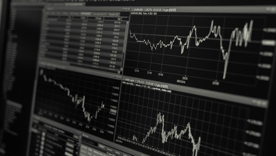 Bild Monitor mit Statistikprogramm